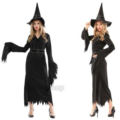 万聖節 ハロウィン コスプレグッズ セット キャラクター Halloween 巫女 cosplay仮装 レディース 大人用 ウィッチ 帽子付き コスチューム イベント 舞台衣装