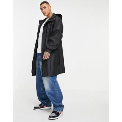 エイソス メンズ ジャケット・ブルゾン アウター ASOS DESIGN waterproof parka jacket in black