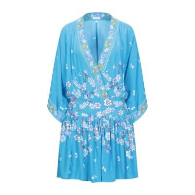 POUPETTE ST BARTH ミニワンピース&ドレス アジュールブルー S レーヨン 100% ミニワンピース&ドレス