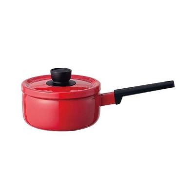 富士ホーロー ソリッド IH対応 ソースパン 18cm SD-18S・R(赤)