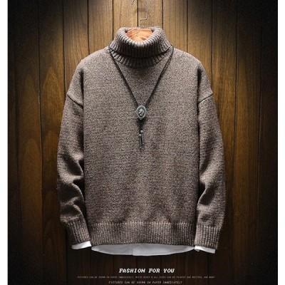 メンズ ニット セーター トップス 長袖 トレンド 秋冬 カジュアル ファッション ルーズ おしゃれ 大きいサイズ