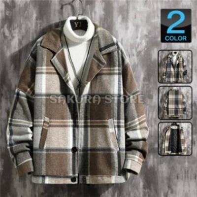 ブルゾン メンズ 中綿ジャケット ジャケット ゆったり ビッグシルエット アウター メルトンコート 冬服 秋冬
