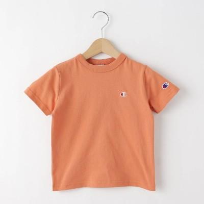 デッサン Dessin 【100-130cm】champion ベーシックコットン(綿)Tシャツ (ライトオレンジ)