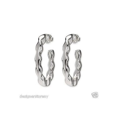 イヤリング モディタルビジュー Simon Sebbag Sterling Silver Elongated Wave Hoop Pierced Earrings