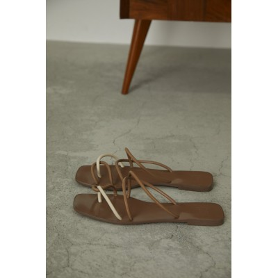 RIM.ARK リムアーク Rope cross heel sandal/サンダル レディース ベージュ 37(約23.5cm)