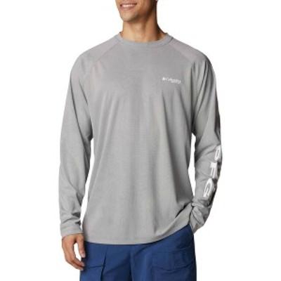 コロンビア メンズ シャツ トップス Columbia Men's Terminal Deflector Long Sleeve Shirt City Grey/White
