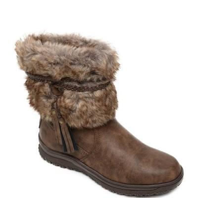 ミネトンカ レディース ブーツ&レインブーツ シューズ Everett Faux Fur Boots Brown