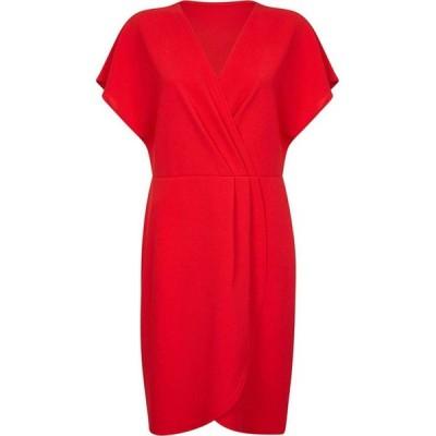 メラ ロンドン Mela London Curve レディース パーティードレス ラップドレス ワンピース・ドレス Wrap Front Dress Red
