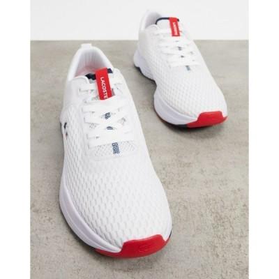 ラコステ メンズ スニーカー シューズ Lacoste court drive tricolore sneakers white White