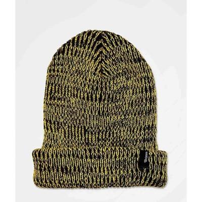 ブリクストン BRIXTON メンズ ニット ビーニー 帽子 Brixton Filter Gold & Black Beanie Gold