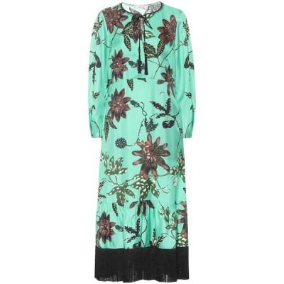 ドロシー シューマッハ Dorothee Schumacher レディース ワンピース ワンピース・ドレス Floral silk-faille dress Green Passiflora
