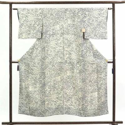 リサイクル着物 小紋 正絹白地袷小紋着物