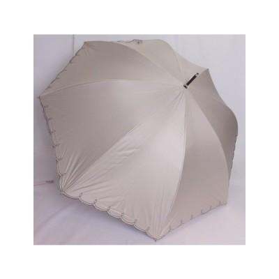 晴雨兼用傘 一級遮光 遮熱効果 長傘 ジャンプ傘 裾刺繍 大寸