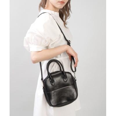 SPINNS / 【2WAY仕様】エコレザーボストンバッグ WOMEN バッグ > ショルダーバッグ