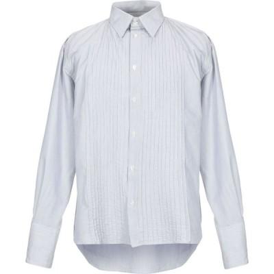 メッサジェリエ MESSAGERIE メンズ シャツ トップス striped shirt Light grey