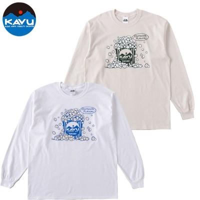 KAVU カブー ポップコーン ロングスリーブTシャツ メンズ 19821318   2020SS コットンロンTシャツ