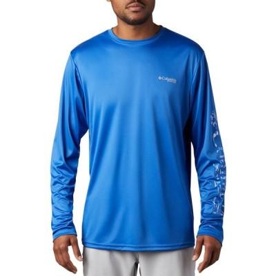 コロンビア シャツ トップス メンズ Columbia Men's Terminal Tackle PFG Long Sleeve Shirt VividBlInsideoutCamo