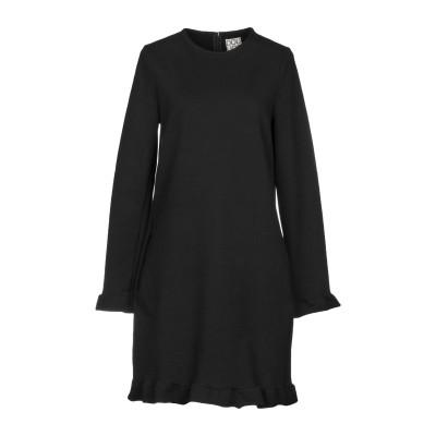 DOUUOD ミニワンピース&ドレス ブラック 42 コットン 95% / ポリウレタン 5% ミニワンピース&ドレス