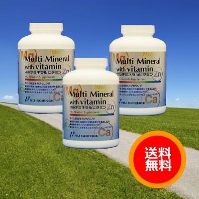 マルチミネラルビタミン(180カプセル)  3個セット ニューサイエンス