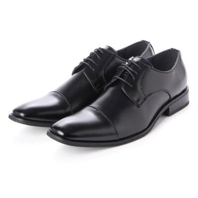 トウキョウブラザー TOKYO BROTHER メンズ ビジネスシューズ 紳士靴 ドレスシューズ クッション性 防滑 ストレートチップ (ブラック)