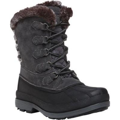 プロペット Propet レディース ブーツ シューズ・靴 Lumi Tall Lace Duck Boot Grey Suede