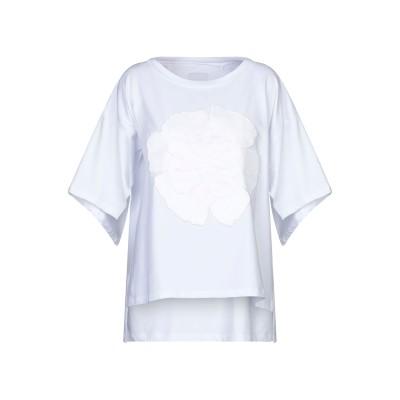 ROSE' A POIS T シャツ ホワイト 46 コットン 96% / ポリウレタン 4% T シャツ
