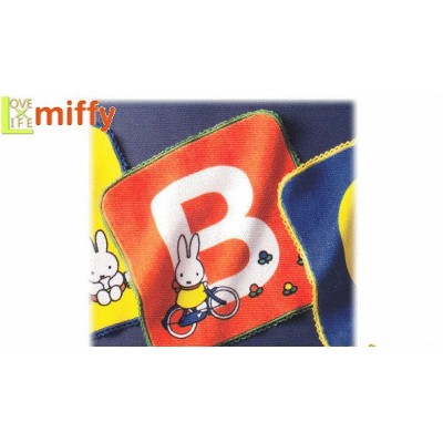 【miffy】【ミッフィー】ミニタオル【イニシャルミッフィー】【B】【ウサギ】【ミッフィーちゃん】【キャラ】【ナインチェ・プラウス】【グッズ】【タオル】【たおる】【かわいい】