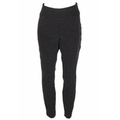 ファッション パンツ Inc International Concepts Black Dot Print Curvy-Fit Jacquard Skinny Leg