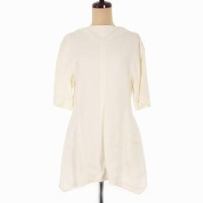 【中古】未使用品 マルニ MARNI 15SS バックジップ レーヨン シャツ 半袖 44 オフホワイト 白 CAMAR51A00 国内正規