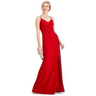 アドリアナ パペル ワンピース トップス レディース Ruched Gown Cardinal