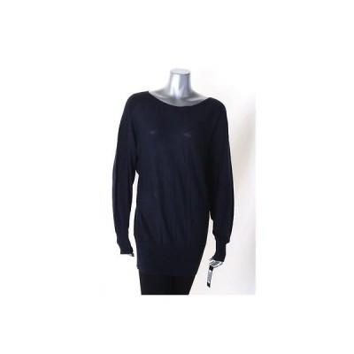 アルファーニ セーター ニット Alfani ネイビー 長袖 Ribbed Panel セーター サイズ L MSRP 59 LAFO