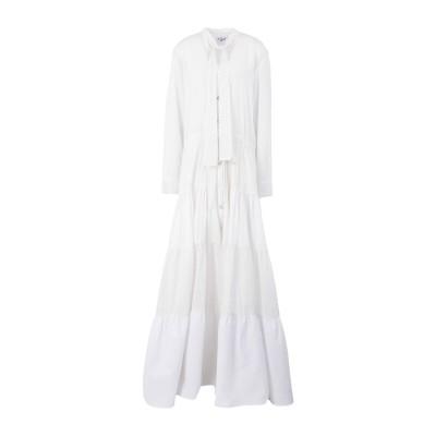 MIMI LIBERTÉ by MICHEL KLEIN ロングワンピース&ドレス ホワイト 38 コットン 78% / ポリエステル 22% ロン