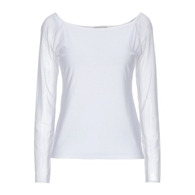 ANITA DI. T シャツ ホワイト 44 コットン 95% / ポリウレタン® 5% T シャツ