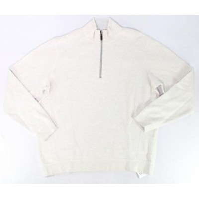 Tommy Bahama トミーバハマ ファッション トップス Tommy Bahama Mens Sweater White Ivory Size 2XL Reversible 1/2 Zip