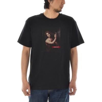 【アートTシャツ】レオナルドダヴィンチ Tシャツ 洗礼者ヨハネ ライフ イズ アート 半袖 メンズ レディース 大きいサイズ 絵画 名画 ブラック 黒