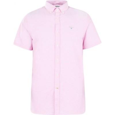 バブアー Barbour メンズ 半袖シャツ ワイシャツ トップス Oxford 3 Short Sleeve Tailored Shirt Pink