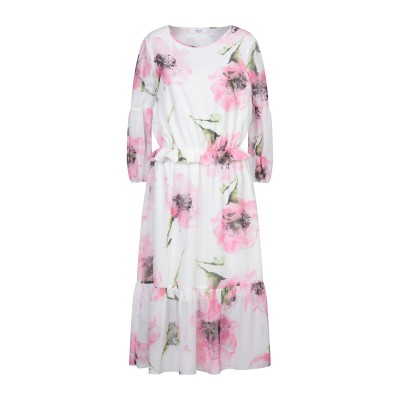 ブルーガール ブルマリン BLUGIRL BLUMARINE 7分丈ワンピース・ドレス ピンク 42 ポリエステル 100% 7分丈ワンピース・ドレス