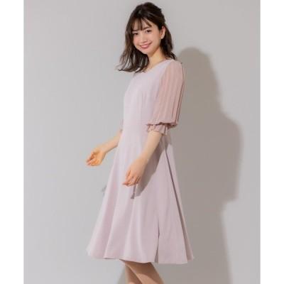 ドレス プリーツスリーブドレス(0R04-02057)