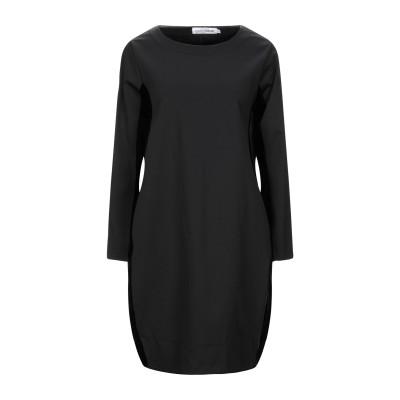 EUROPEAN CULTURE ミニワンピース&ドレス ブラック XL ナイロン 55% / レーヨン 21% / ポリウレタン 12% / コッ