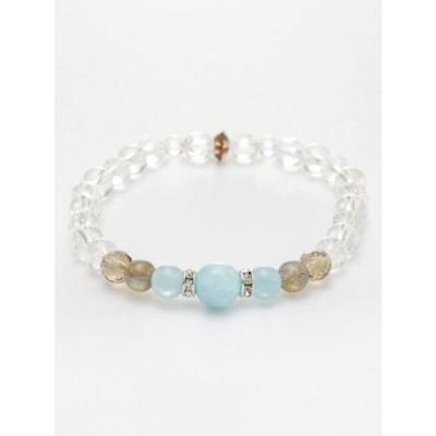 【岩座】耀き(かがやき)数珠 / ラリマーブレスレット ストーン