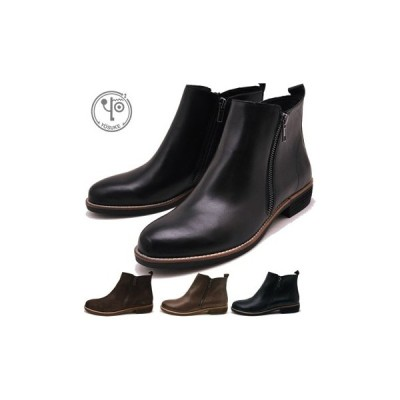 ヨースケ YOSUKE 靴 サイドジップブーツ レディース 本革 ショートブーツ 【25.5cmまで展開】