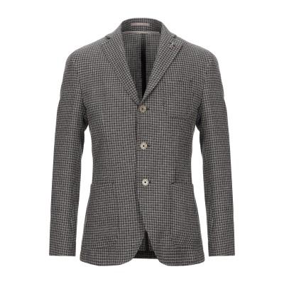 パオローニ PAOLONI テーラードジャケット ダークブラウン 46 バージンウール 77% / リネン 23% テーラードジャケット