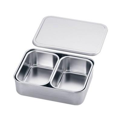 厨房用品 保存容器 / 18-8プレス 大型ヤクミ入 2ヶ入  寸法: 幅:265 x 奥行:200 x H72mm