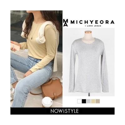 韓国 ファッション Tシャツ レディース おしゃれ 半袖 ストレッチカットソー