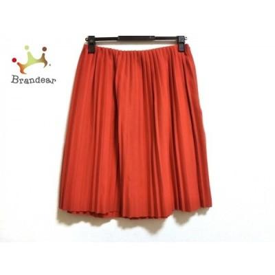 ルシェルブルー LE CIEL BLEU スカート サイズ40 M レディース 美品 - レッド ひざ丈/プリーツ   スペシャル特価 20200701