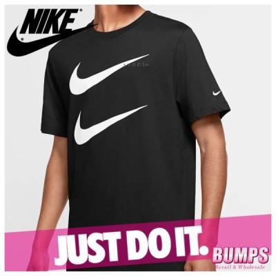 NIKE ナイキ プリントTシャツ 丸首 半袖 メンズ スウッシュ ロゴ スポーツウェア トップス 新作