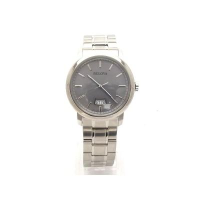 ブローバ BULOVA 96B200 メンズ クオーツ グレー文字盤 腕時計 【中古】【程度A+】【極上美品】