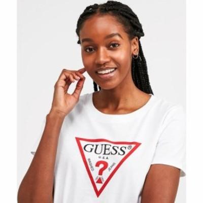 ゲス Guess レディース Tシャツ トップス Triangle T-Shirt White