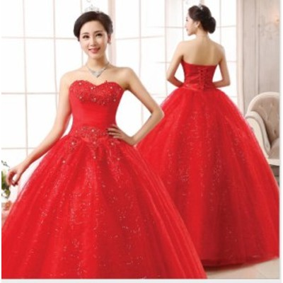 人気 ベアトップ 優雅 ウェディングドレス お呼ばれドレス Seet style フェミニン パーティドレス 挙式 結婚式 ピアノ 撮影 編み上げ