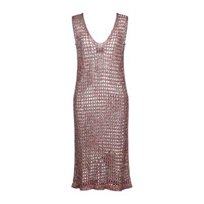 OF HANDMADE 7分丈ワンピース・ドレス レンガ M/L レーヨン 85% / ポリエステル 15% 7分丈ワンピース・ドレス